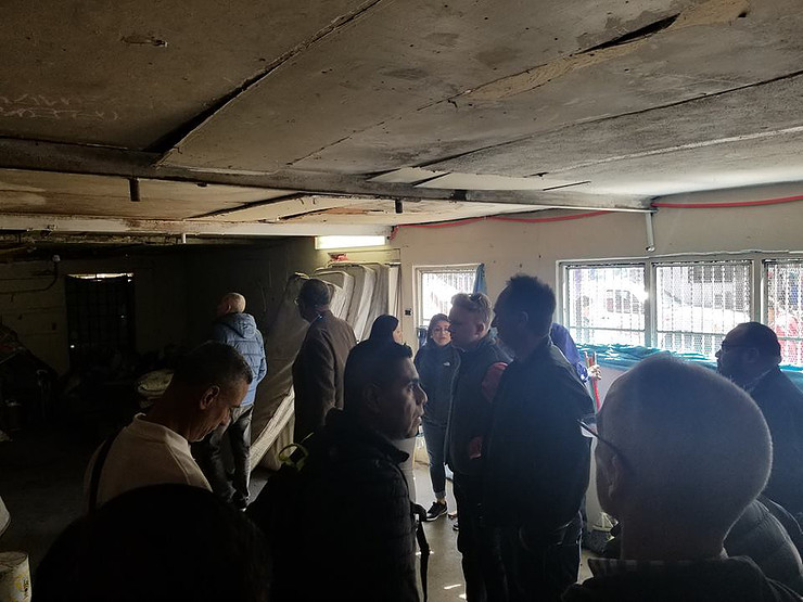 Here the members of our coalition are taking a tour of Hotel Migrante. Those pictured include: Councilmembers Price and O'Farrell, Sergio Infanzon, Chaparrastique Cativo, and Rick Zbur (Executive Director, Equality California).